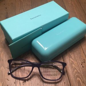 Dark blue Tiffany & Co. glasses